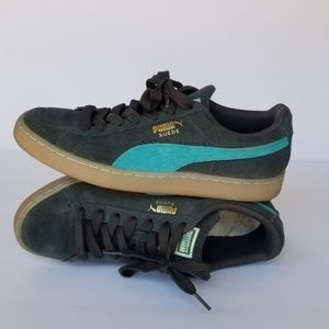 Puma Vikky Suede Classic Gray Turquoise Gum Sole